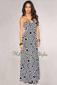 optical illusion dress white optical illusion halter maxi dress