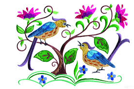 birds paradise jf303 embroidery design