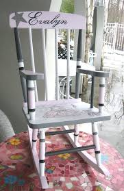 Gray Rocking Chair For Nursery Painted Baby Furniture Ballerina Rocking Chair