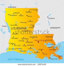 map usa louisiana vector color map louisiana state usa stock vector 25975426