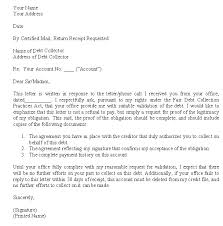 debt validation letter letter template