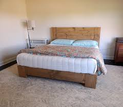 Reclaimed Platform Bed - attractive solid wood platform bed queen also environment