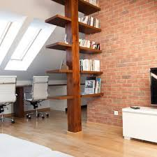 Wood Shelf Support Designs by Support Beam As Bookshelf Houzz Home Ideas Pinterest Houzz