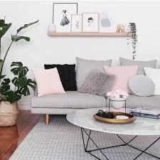 déco coussin canapé déco salon idee deco salon très douce et féminine couleur peinture