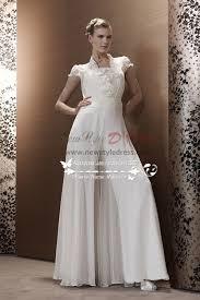 wedding dress jumpsuit white chiffon wedding jumpsuit bridal siamese trousers dresses wps
