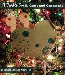 two turtle doves craft and ornament because babies grow up