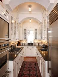 kitchen small galley kitchen design ideas with off white
