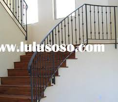 Iron Handrail For Stairs Wrought Iron Stair Railing Lulusoso Com