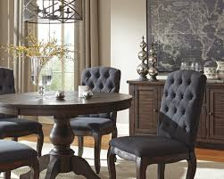 Round Dining Sets 5 Piece Round Dining Table Set With Upholstered Side Chairs By