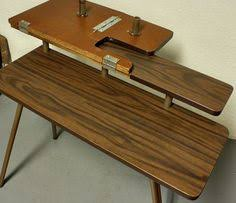 fold away sewing machine table vintage sewing table sewing machine table pfaff 297 wood