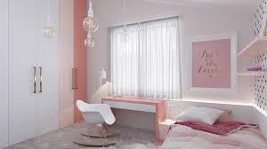 chambre poudré design interieur chambre enfants blanc neige poudré saumon