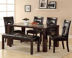 Leather Dining Benches Dining Room Tables With Benches Rustic Dining Room Design With