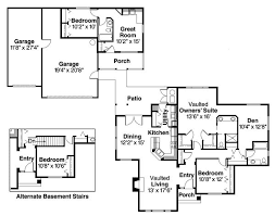 house plans with detached guest house house detached from 3 car garage small in guest unit