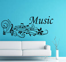music note home decor wall decal musical notes waves music note recording studio home
