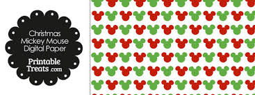 mickey mouse wrapping paper mickey mouse christmas digital scrapbook paper printable treats