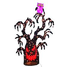 decorated halloween trees shop holiday living spooky tree outdoor halloween decorations at