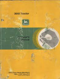 john deere tractor 3640 operators manual