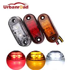 led side marker lights 2pcs red 12v trailer cars led side marker light indicator clearance