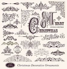 different decorative ornaments and labels vector 01