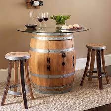 Wine Barrel Bar Table Wine Barrel Tables U2013 Off The Vine Wine Boutique