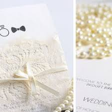 Christmas Wedding Programs Vintage Wedding Programs Wrapped In Lace Diy Playbook