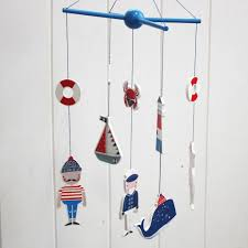 Wooden Nautical Flags Wooden Nautical Sea Mobile By Posh Totty Designs Interiors