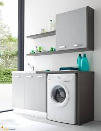 Cabinet Ideas For Laundry Room by Natural Stylish Laundry Room Decoration Ideas With Small Vanity