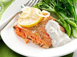 salmon with creamy dill sauce recipe taste of home