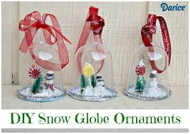 diy snow globe ornaments darice