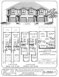 Multi Unit House Plans 4 Plex Skinny Units Apartment House Plan Ideas Pinterest