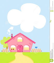 cute cartoon house with copy space stock images image 19470104