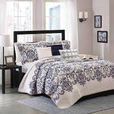 Bedding Sets Blue Home Essence Cascade 6 Piece Quilted Coverlet Set Walmart Com