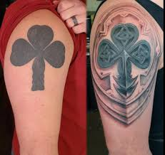 rework of a messed up then filled in shamrock done by gerrit at
