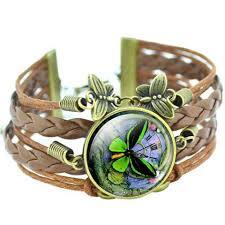 leather bracelet fashion images Cabochon butterfly hand braided leather bracelet kelsey adele jpg