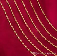 gold necklace types images Golden chain necklace 5 types fashion women diy necklace pendant jpg