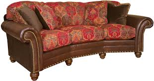 Leather And Upholstered Sofa Conversational King Hickory Katherine Katherine Leather