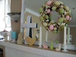 holiday decor gorgeous easter mantels with art above fireplace