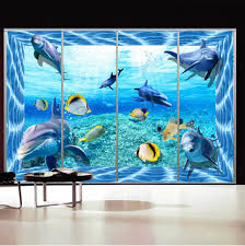 Dolphin Home Decor Online Shop 3d Wall Sticker Dolphin Sea And Fish Personalized Wall