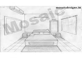13 one point perspective drawing living room one point