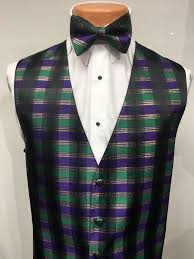 mardi gras vests mardi gras plaid vest and bow tie s tuxedo