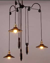 Ceiling Pendant Lights by Vintage Industrial Iron Pendant Light Adjustable Chandelier With