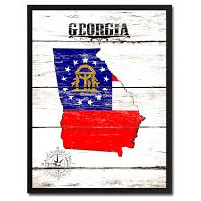 Ga State Flags Georgia State Home Decor Office Wall Art Decoration Bedroom
