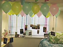 Birthday Room Decoration With Balloons Rustic Neabuxcom - Birthday decorations at home ideas