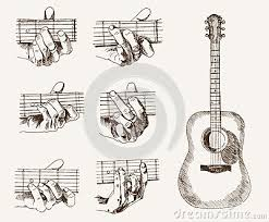 abstract guitar sketch u2013 images free download