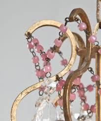 Opaline Chandelier Italian Chandelier With Pink Opaline Beads