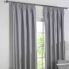 Stylish Blackout Curtains Blackout Curtains Silver Faux Silk Pencil Pleat Derwent Fully