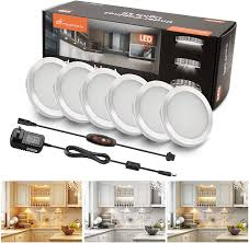 how to install led puck lights kitchen cabinets moobibear led cabinet lights linkable 2w 1200lm puck lights kit dimmable with 14 levels brightness 3 colors in counter lighting fixtures