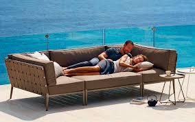 Outdoor Furniture Mallorca by Cane Line Outdoor Sofa Conic Mediterranean Living Mallorca