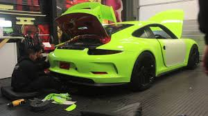 porsche gt3 rs wrap porsche 991 gt3 gets wrapped acid green youtube