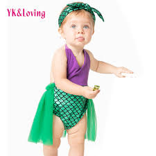 Mermaid Halloween Costume Toddler Cheap Swimming Costumes Babies Aliexpress